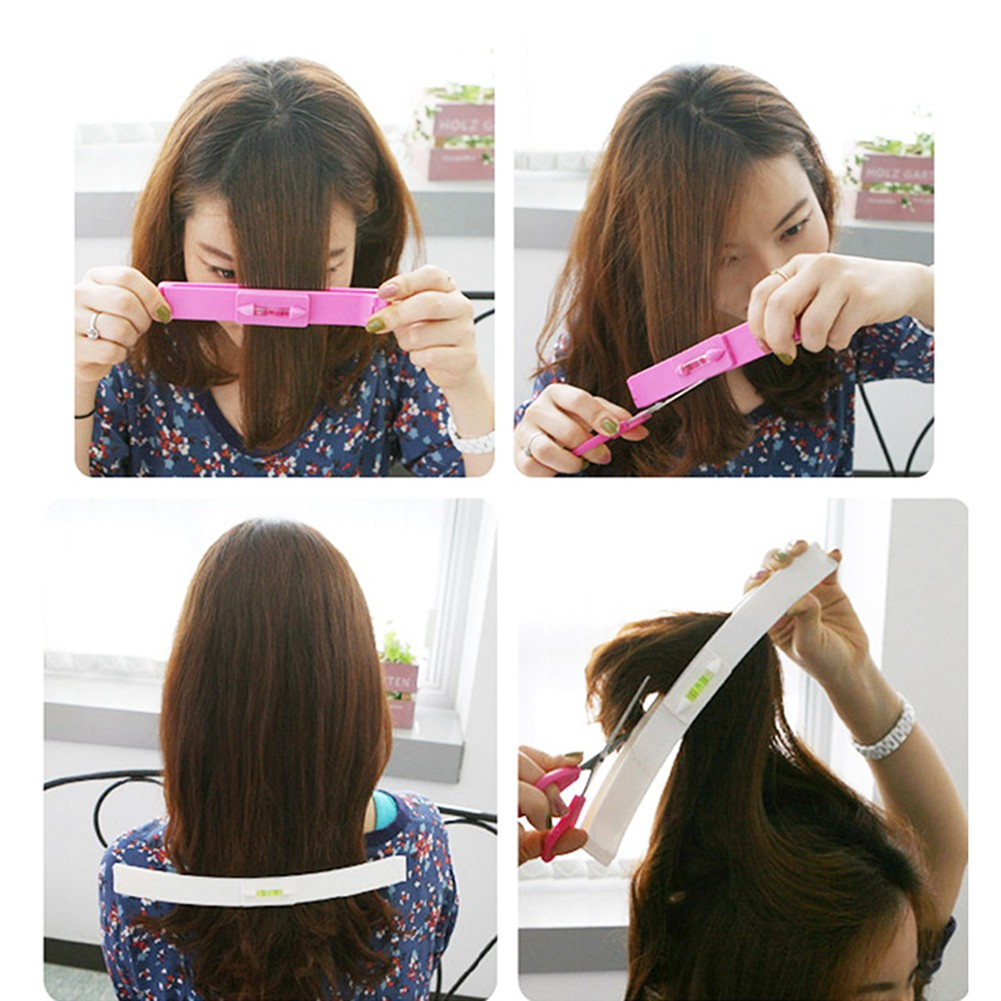 11pcs DIY Bangs Hair Cutting Clip Comb Hairstyle Trim Tool