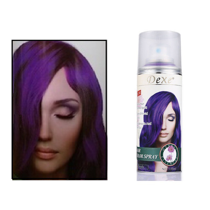138ml gray Color Dexe Hair Color Spray Temporary Hair Dye Herbal ...
