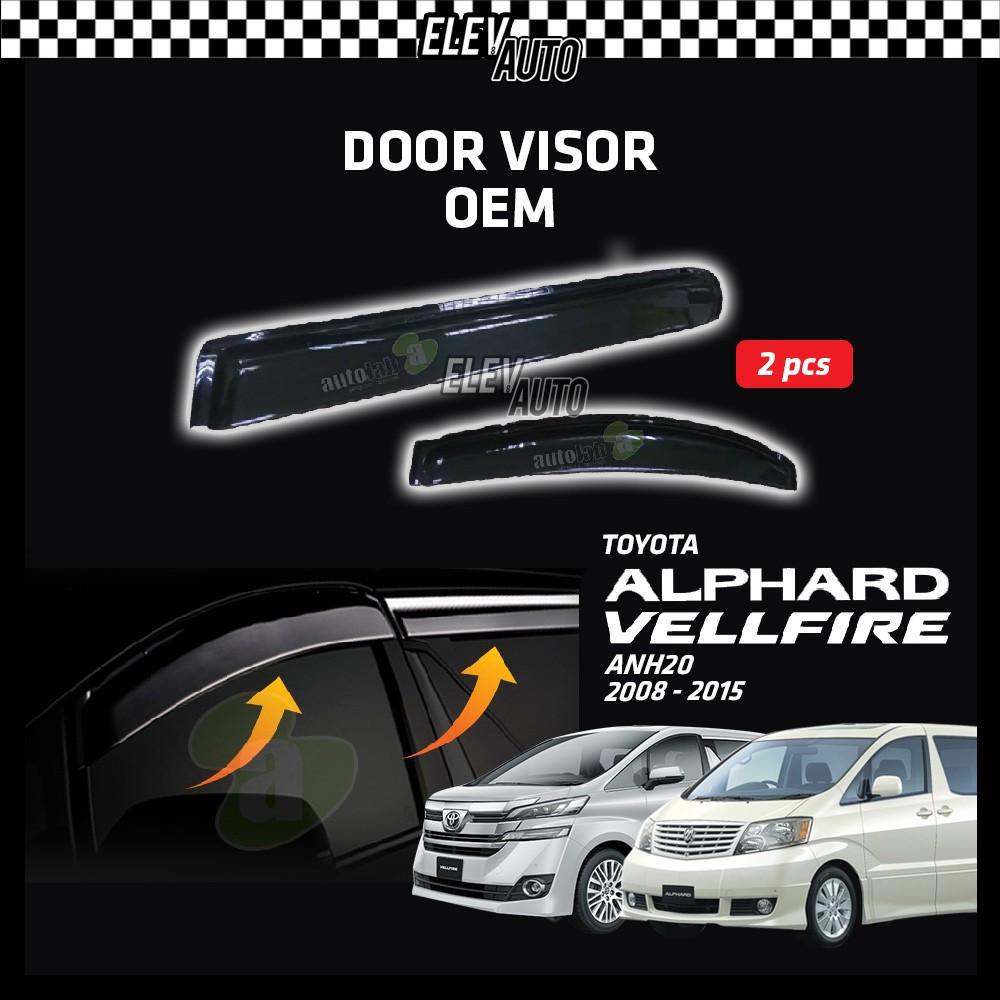 Toyota Alphard / Vellfire ANH20 2008-2015 OEM Air Press Door Visor (2pcs)