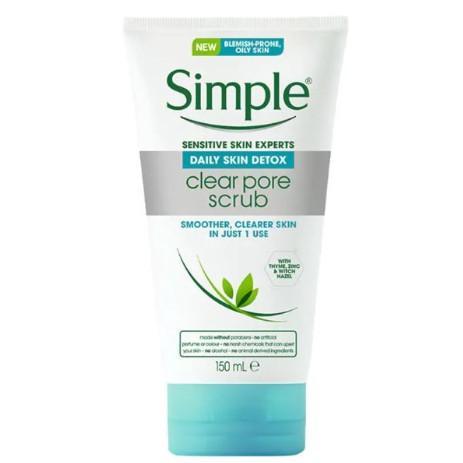 Simple Daily Skin Detox Clear Pore Scrub 150ml
