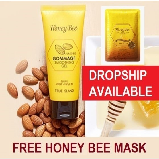 [READY STOCK] TRUE ISLAND HONEY BEE ALMOND GOMMAGE SMOOTHING GEL 100ML