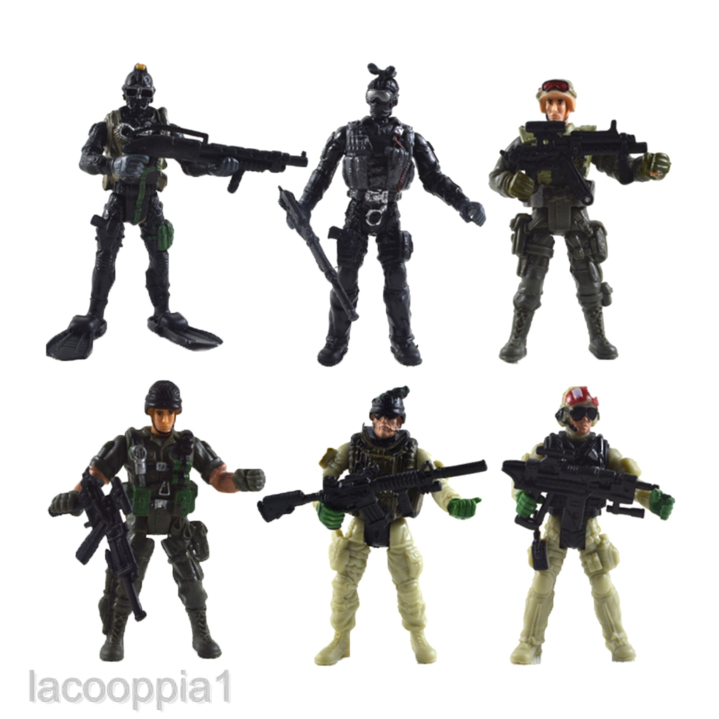 238pcs//Lot Army Combat Game Toys Soldier Set w Backpack Army Military Model