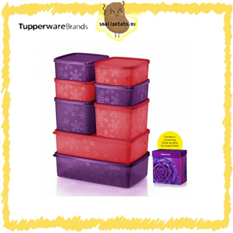 [ READY STOCK ] Tupperware Snowflake Square Round Set / NEW ARRIVAL STOCK