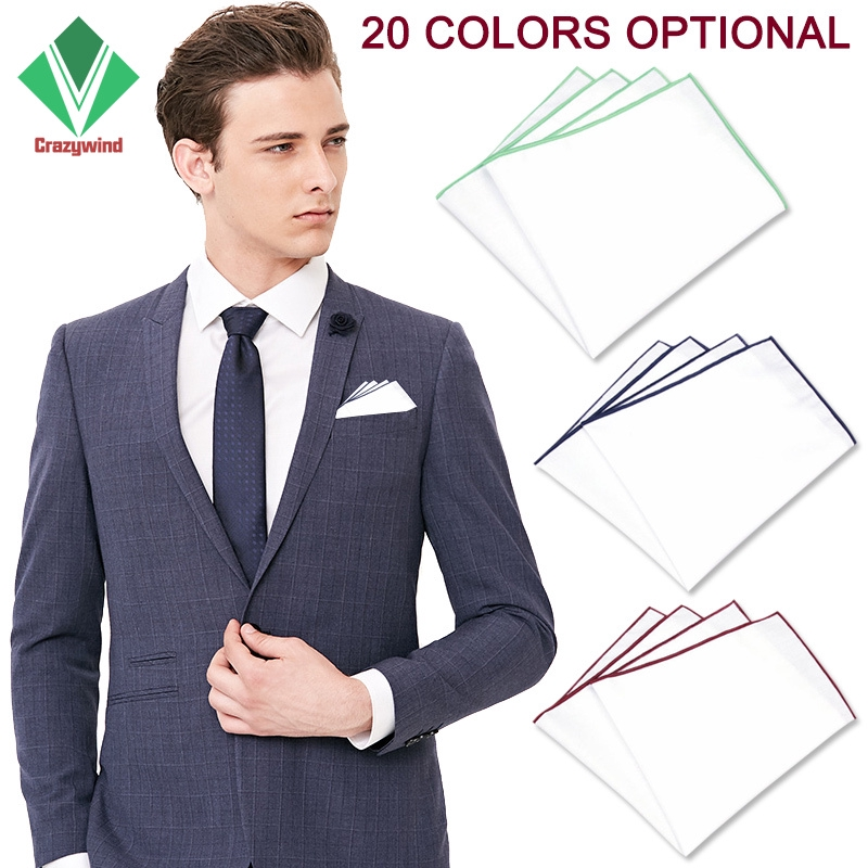 NEW Men/'s Two Bars Stripes Handkerchief Pocket Square hankie Formal Prom