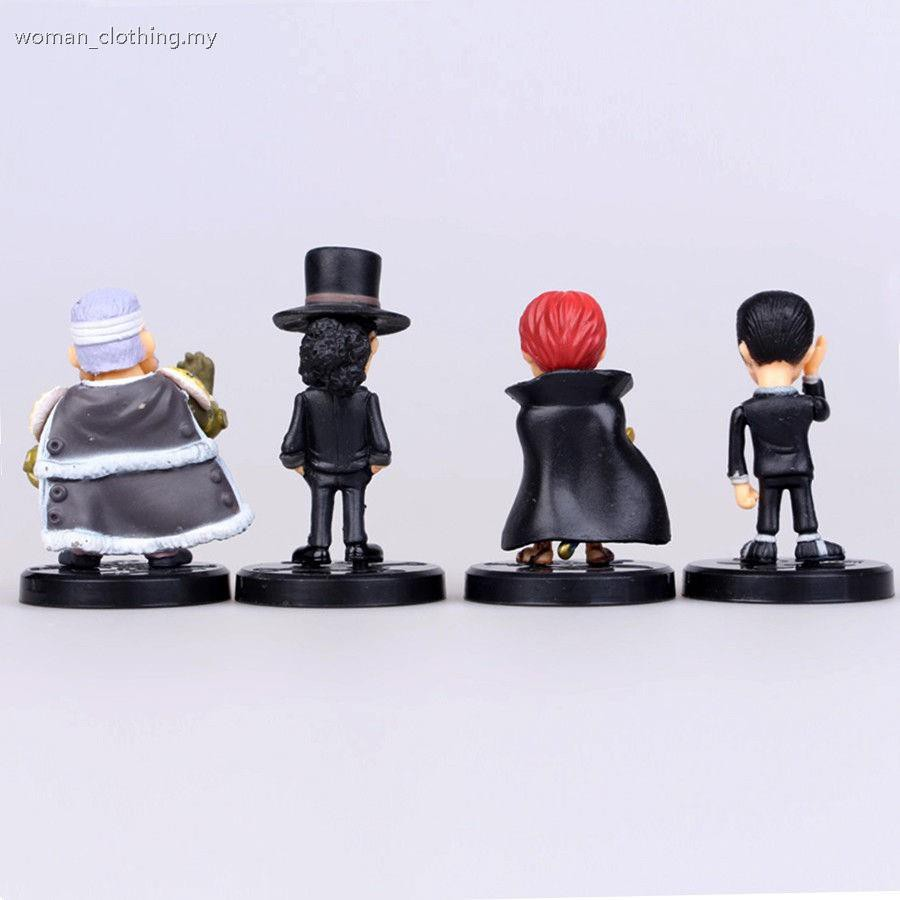 12 PCS One Piece Luffy Sabo Shanks Lucci Anime Action Figure Figurine Gift Toys