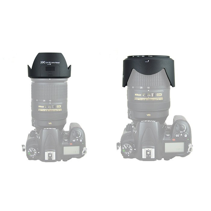 JJC LH-58 Lens Hood for Nikon AF-S DX NIKKOR 18-300mm ED VR Lens ( HB-58 )