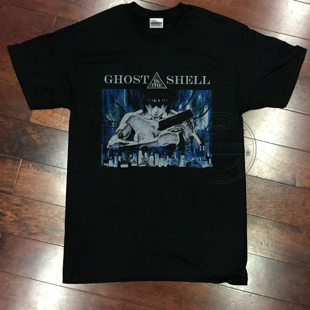 100 Cotton T Shirt Ghost In The Shell Vintage Re 80s Manga Anime T Shirt Usa Sport Men S T Shirt Shopee Malaysia