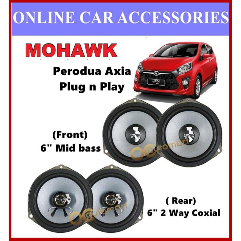 MOHAWK Plug & Play Front & Rear OEM Speaker For PROTON,PERODUA,TOYOTA,HONDA,NISSAN-(Perodua Axia)