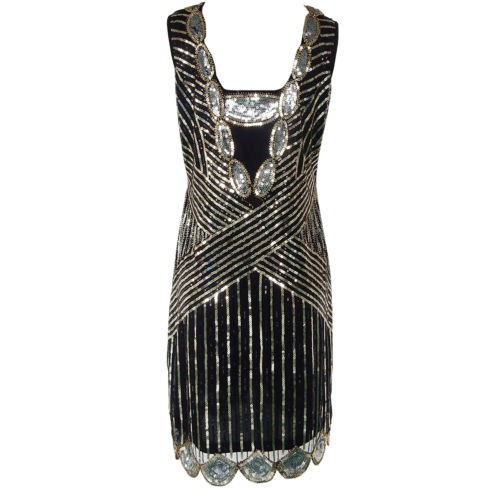 cff3e79db00b kajay Vintage 1920s Flapper Great Gatsby Dress Sequin Fringe Party Midi  Dress | Shopee Malaysia