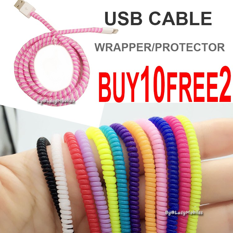 Apple iPhone SE 5S 6 6s PLUS 7 USB Cable Wrapper Protector  a861800201