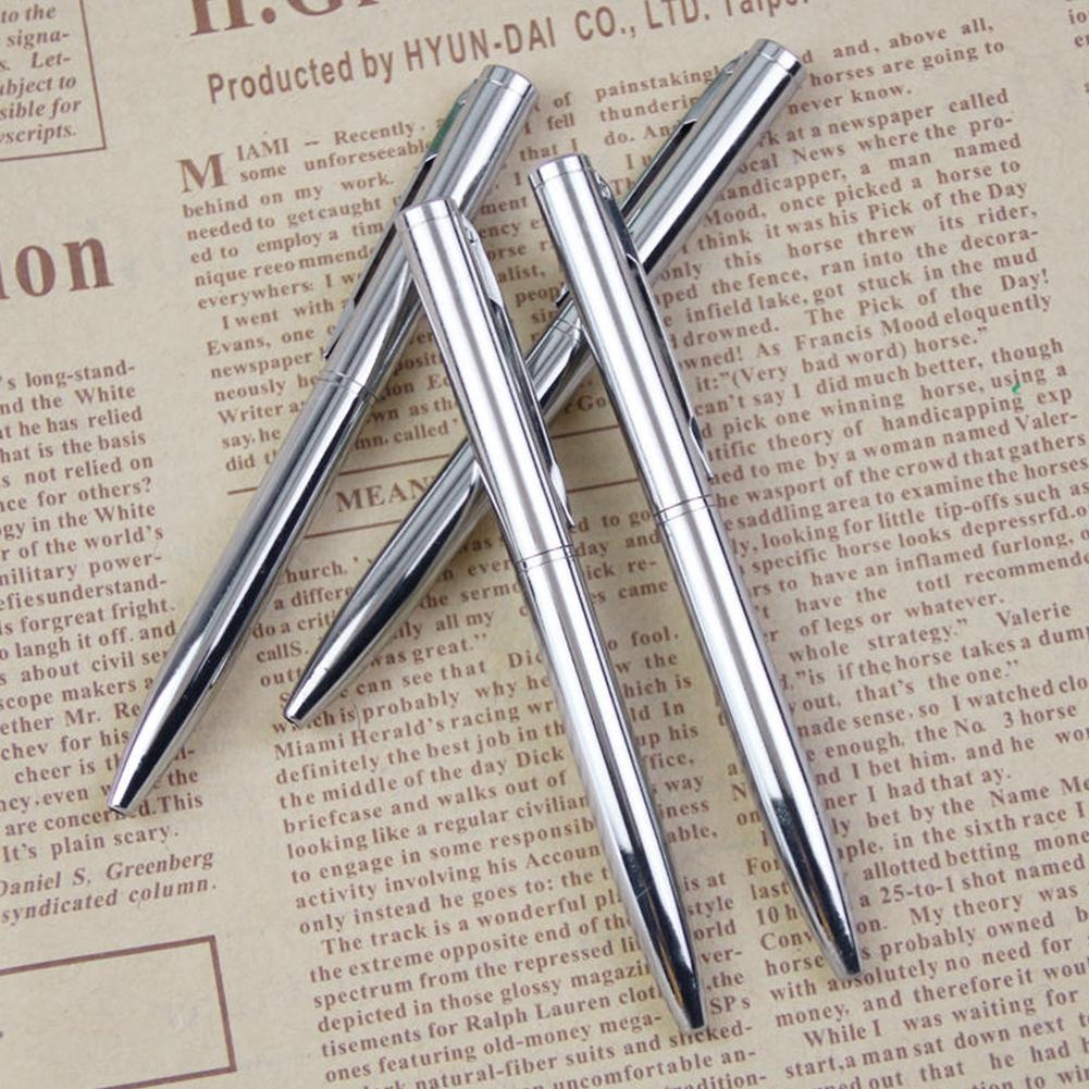5X Mini Pocket-size Ballpoint Pen Metal Rotating Small Portable Oil Black Pen UK