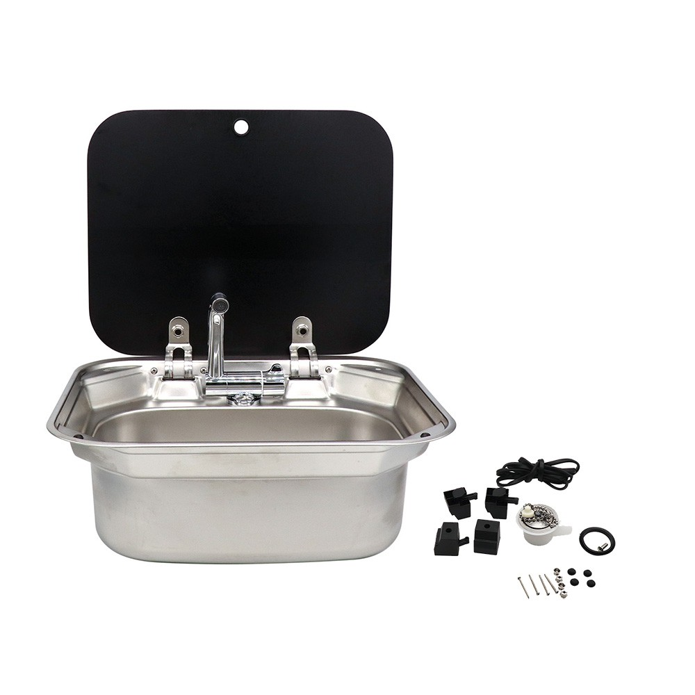 Rv Kitchen Kit Stainless Steel Sink With Lid Including The Folding Faucet Campervan Hand Wash Basin Kitchen Sink With The Rotatable Tap Shopee Malaysia