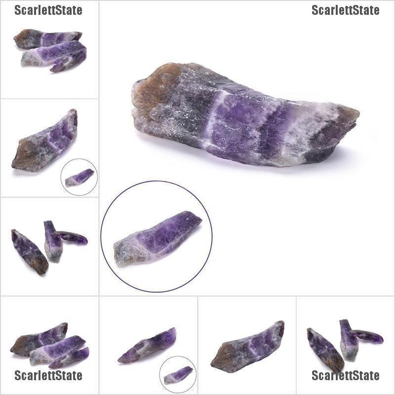 100g Natural Purple Amethyst Point Quartz Crystals Rough Rock Specimen DIY Stone Fish Tank Decorations