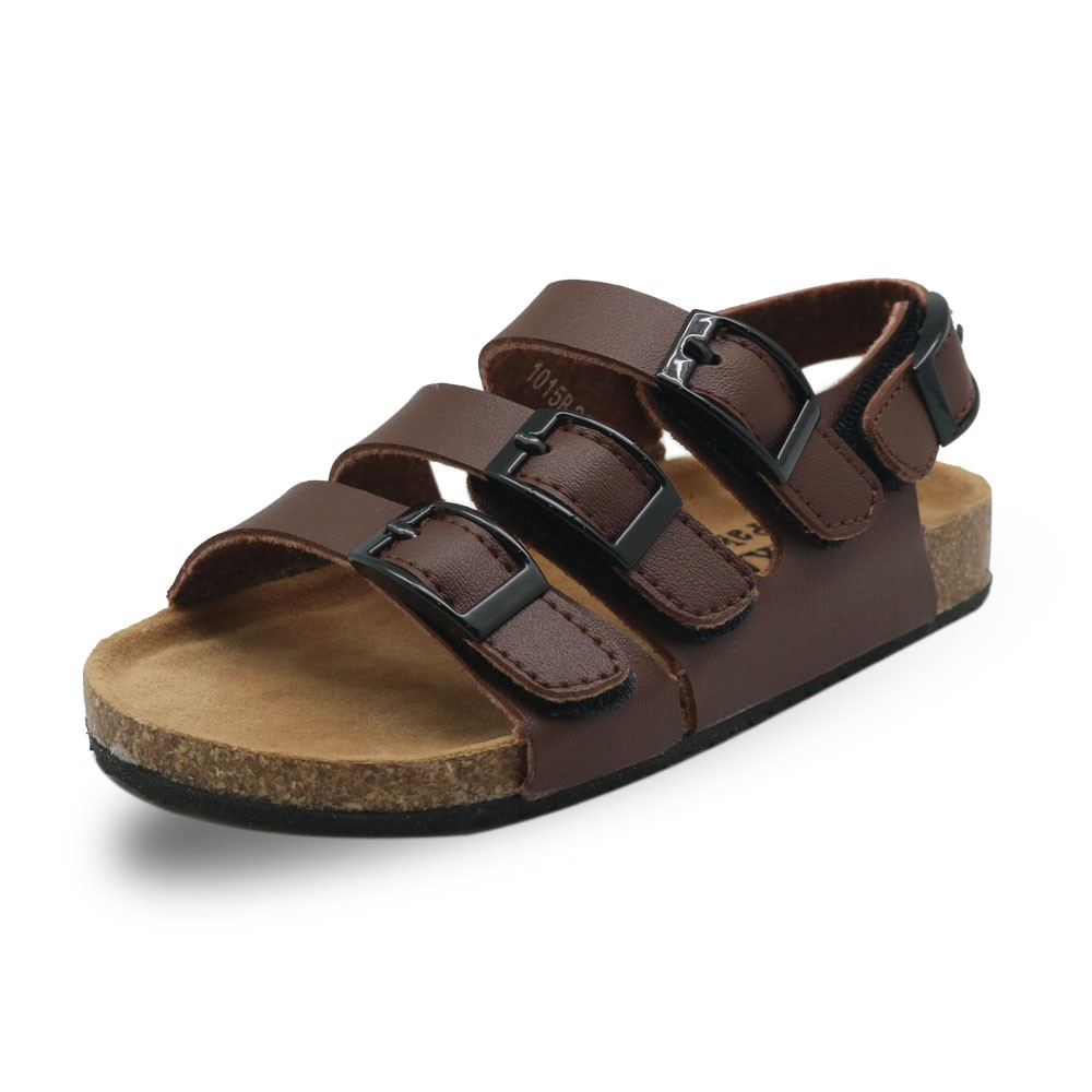 372f784276 Apakowa Boy Summer Sandals with Hook&Loop Baby Children Flat Soft Casual  Shoes