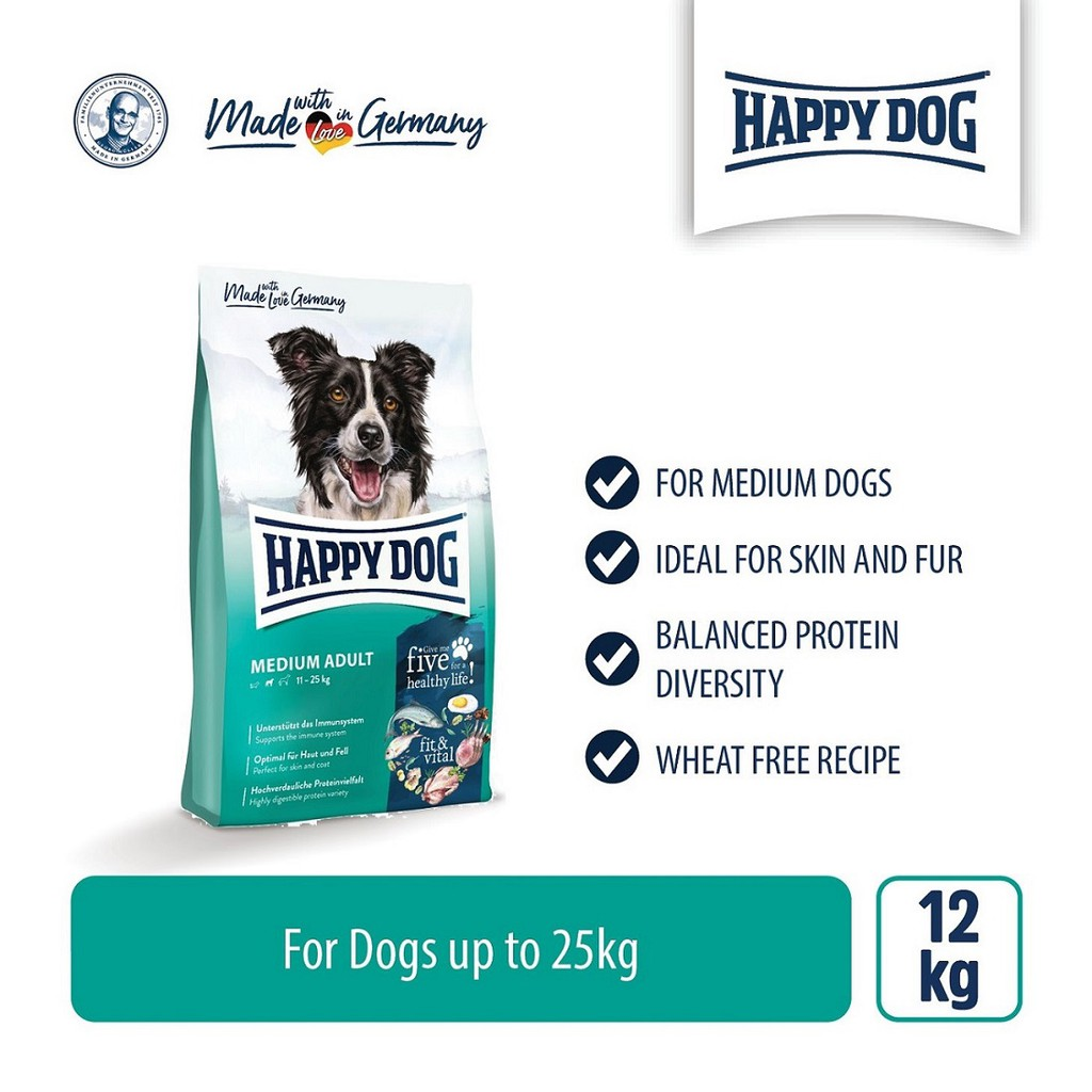 Happy Dog Supreme Fit & Vital - Medium Adult (12kg)