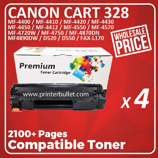 4 unit Canon 328 / Canon Cartridge 328 High Quality Compatible Toner Cartridge