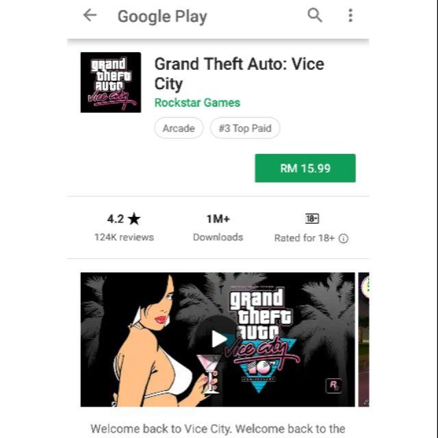 gta vice city game rating