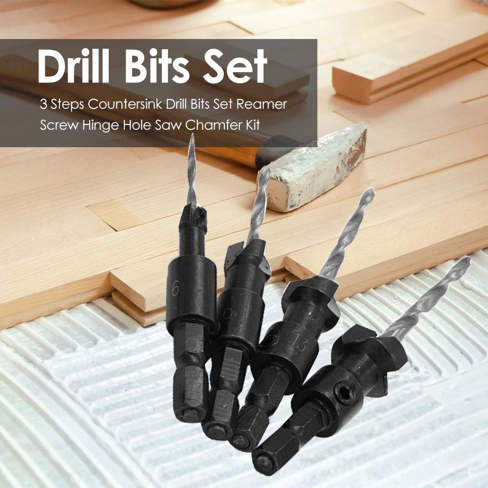 Handle Drilling Tool Woodworker Manual Reamers Hex Shank Conical Reaming Chamfering Countersunk Head Cutting Tool
