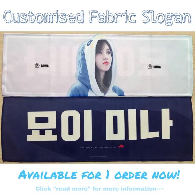 Customised Fabric Slogan