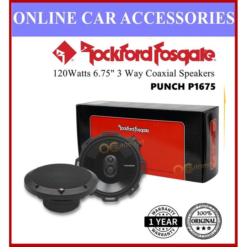 "Rockford Fosgate P1675 Punch Series 3 Way Spk 6.75"" Car Speaker 120 Watts Speaker Kereta"