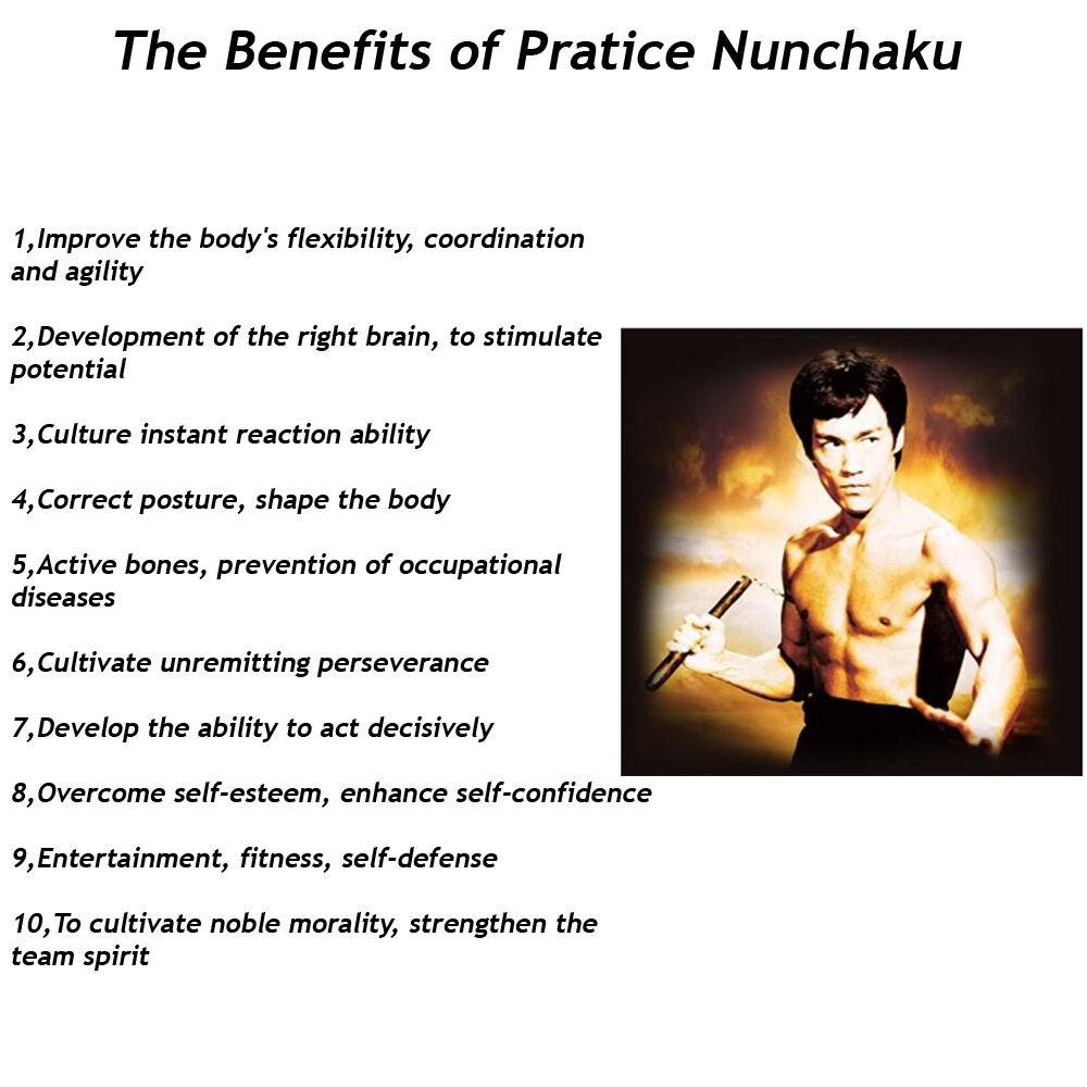 "10/"" Bruce Lee Martial Arts Blue Foam Nunchakus Dragon Pattern Training Practice"