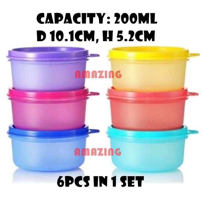 Tupperware Small Round Container (6pcs)  200ml