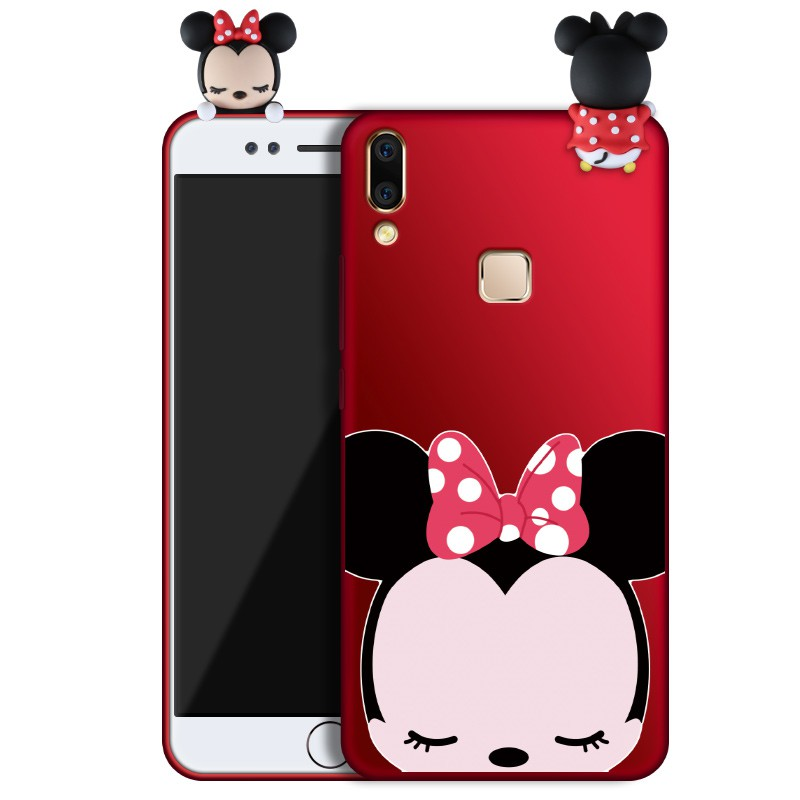 low priced 4234f 54c17 Cartoon 3D Mickey Mouse Minnie phone Cases For Vivo V9