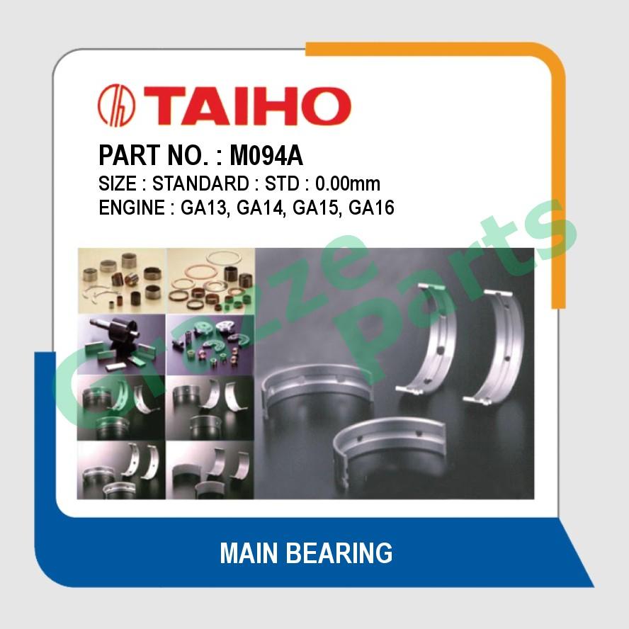 Taiho Main Bearing STD Size M094A for Nissan AD Resort Y10 Sentra B13 B14 N16 Serena C23
