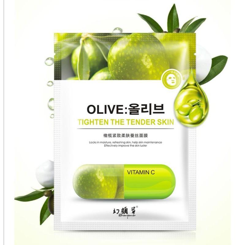 [ READY STOCK ]  Organic Fruit Plant Mask Facial Brightening Silk Skin Care Aging Mask Jualan Murah Makeup Lotion Serum