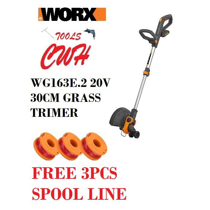 WORX WG163E.1 30cm 20V Max Li-Ion Grass Trimmer Cordless CUTTER WEED EATER WA3551 WA3551.1 WG163E WG169E STC1820EPCF