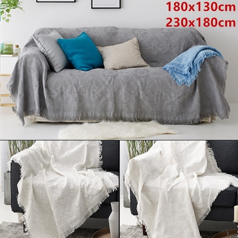 Woven Cotton Sofa Throw Blanket