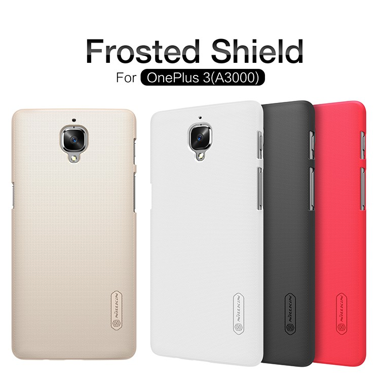 Nillkin Frosted Shield Hardcase for Xiaomi Redmi Note 4 - Gold + Free iRing. Source