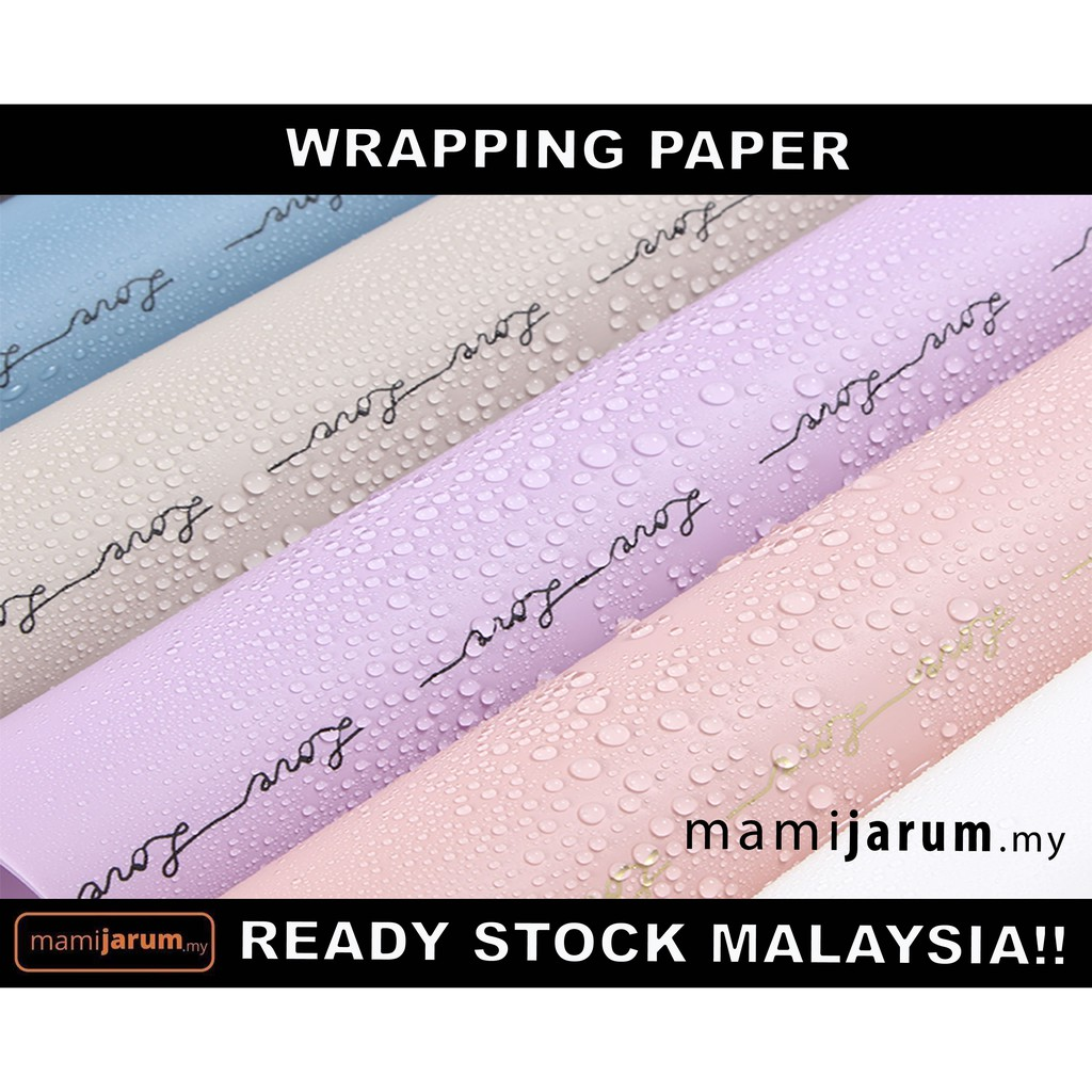 Wrapping Paper Lover Handwriting mix  (60 cm x 60 cm)(10pcs)