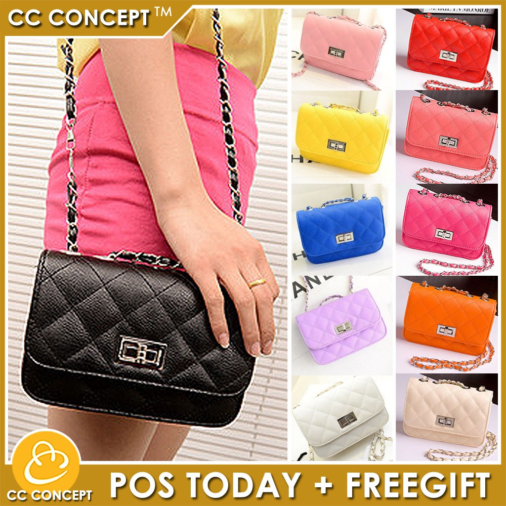 Sling Bag Cc Concept Fashion Quilted Lady Shoulder Bag
