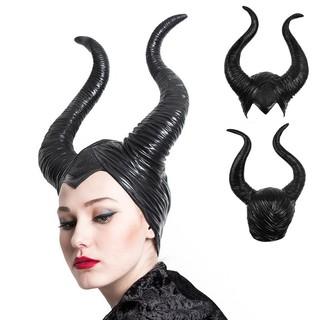 1x Maleficent Headpiece Black Queen Costume Horns Cosplay H