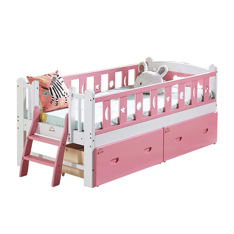 Home Girl Princess Bed Kid Bed With Guardrail Boy Small Bed Single Bed Solid Wood Wide Bed Stitching Bed Shopee Malaysia