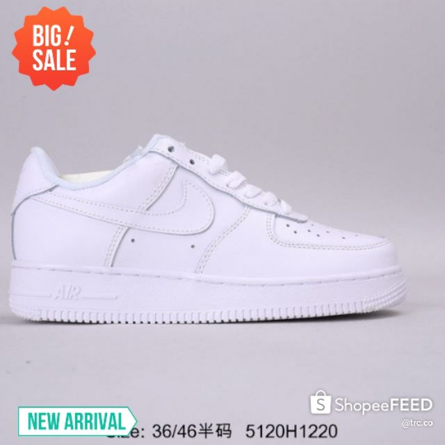 Nike Air Force 1 Mid 0 Low Top Casual Shoes Men (All White) Premium 36-46 Euro