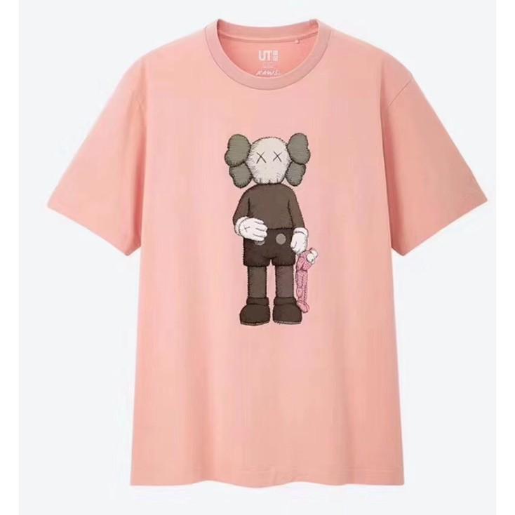 Fashion KAWS X Uniqlo Printed Cotton T shirt