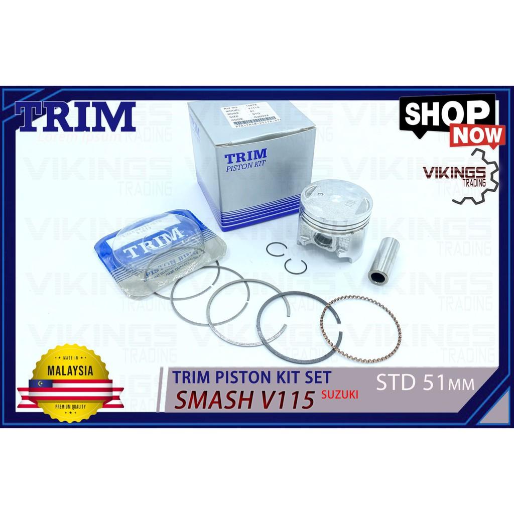 SMASH V115 SPECIAL TRIM KIT SET MALAYSIA 'PISTON+PIN+CLIP+PIN' FULL SET