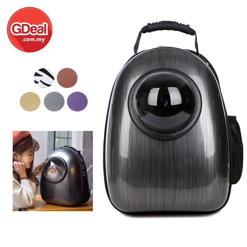 GDeal Pet Space Design Backpack Transparent Breathable Cat Carrier Beg Haiwan بيڬ حيوان