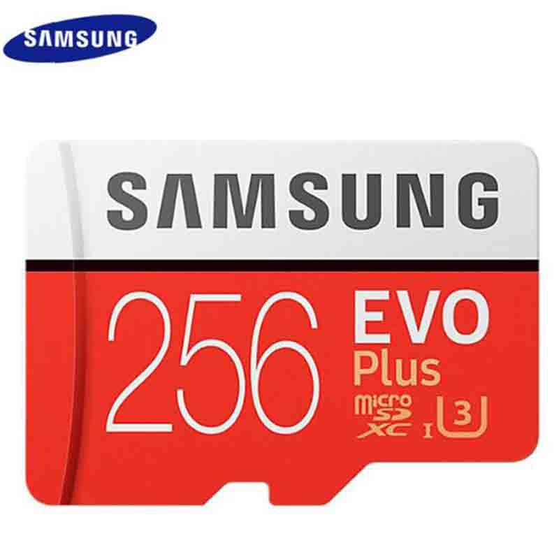 Ready Samsung EVO Plus U3 Memory Card 256GB C10 TF Card Micro SD 256G +  Adapter