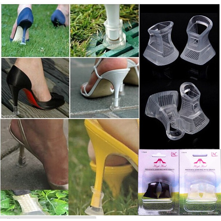 0170f4c74e5 Stiletto High Heel Protector Clear High Heelers Shoes Stoppers Covers