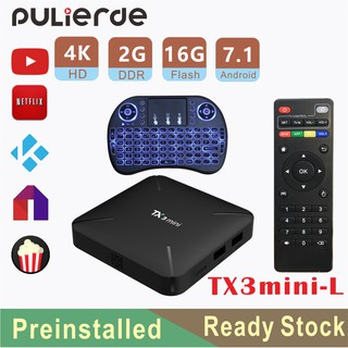 🔥Preinstall🔥T95S1 10000 Channels & Movies Android Box 7 1 TV BOX 2G 16G  S905W WiFi 3 days free IPTV