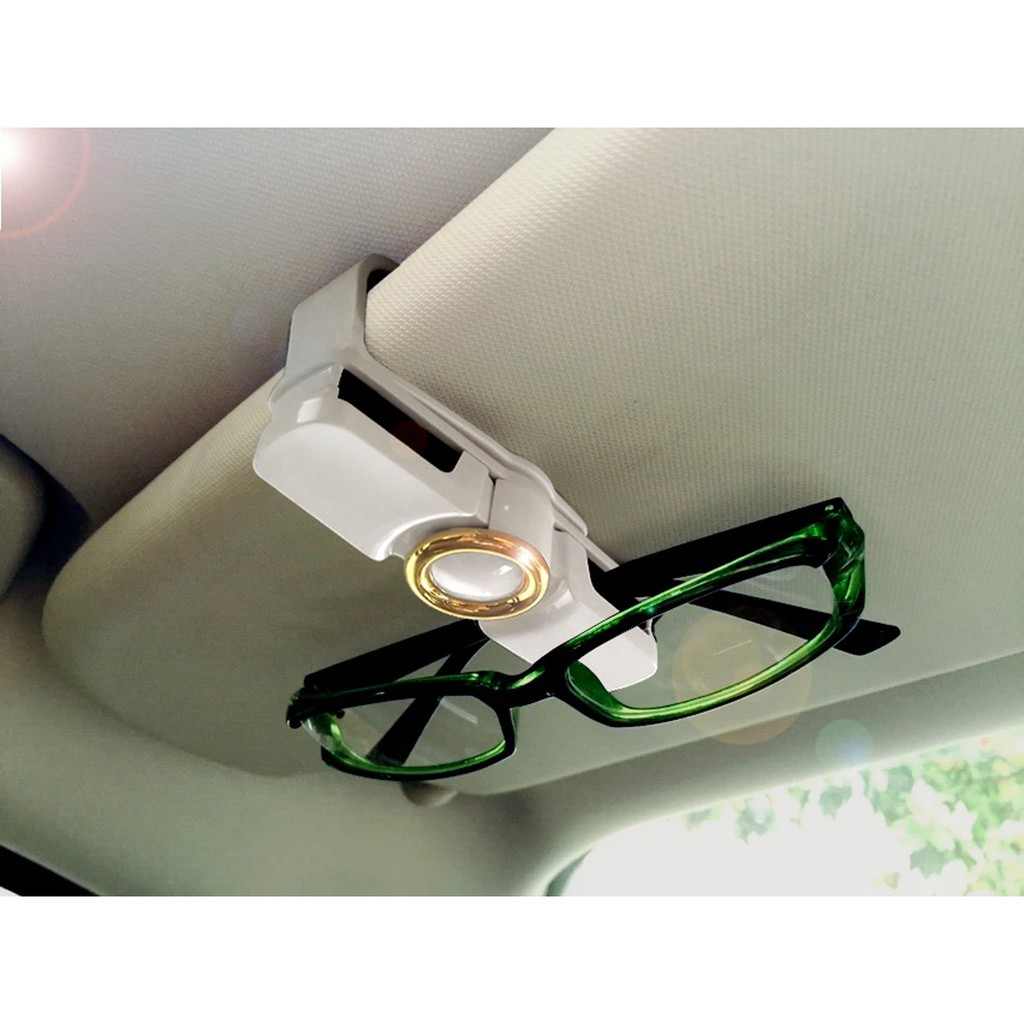 Premium Sunglass Clip for Car Visor Sunglasses Eyeglasses Mount with Ticket Card Clip Built-in Sponge Car Sunglass Holder Visor Clip