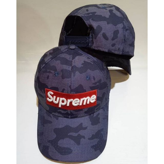 88af60a2145 SUPREME Adjustable Snapback Blue Jeans Cap