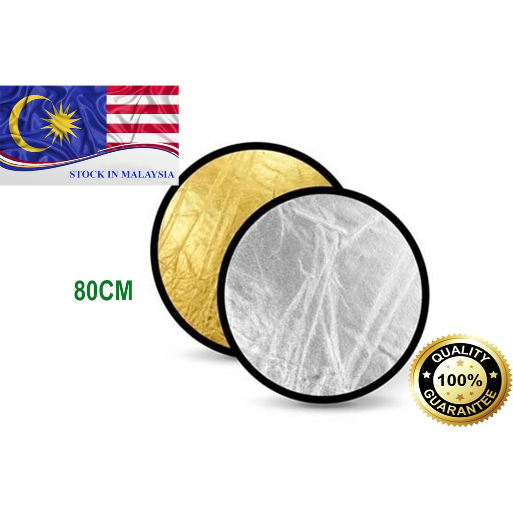 80cm Gold Silver 2 in 1 Collapsible Reflector (Ready Stock In Malaysia)