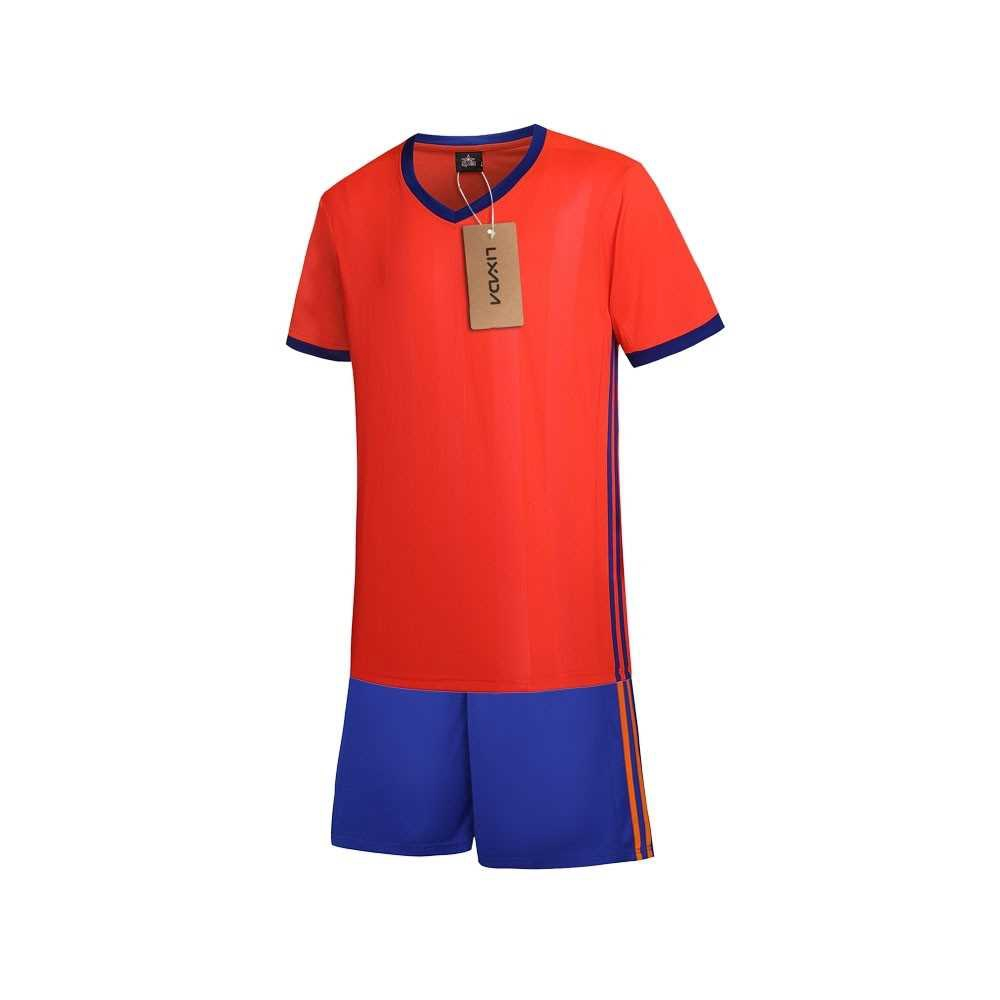 Lixada Football Shirt Uniforms Set (watermelon red)
