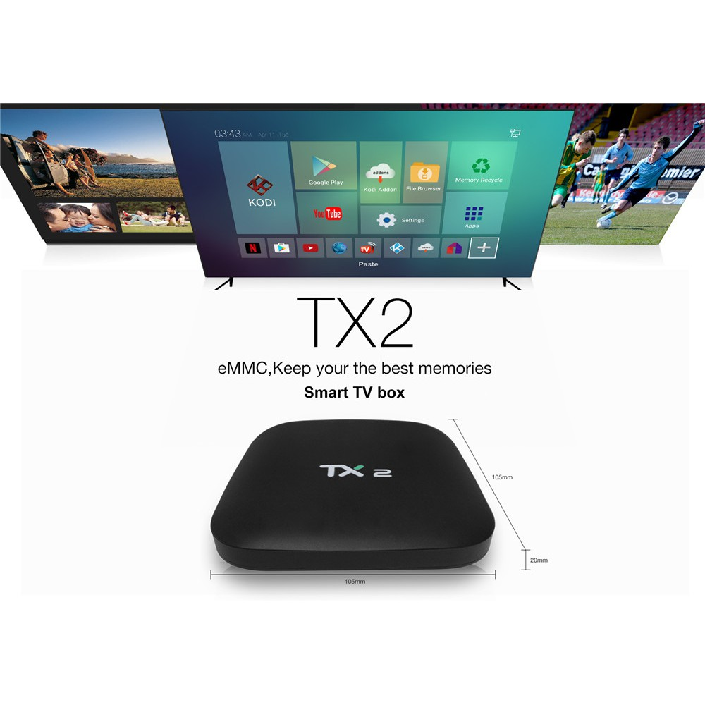 4K Android 6 0 Smart TV BOX Latest16 1 RK3229 Quad Core 16GB HD 1080P WIFI
