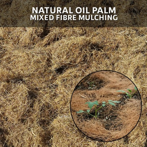 Natural Oil Palm Mixed Fibre Mulching 500G - Sabut Kelapa (10L)