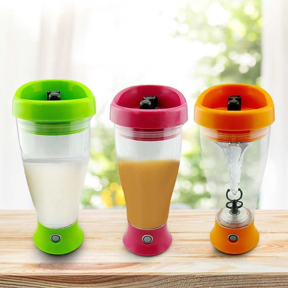 Portable Self Stirring Mug Automatic Mixing Bottle Powerful Tornado Shaker Electric Mixer for Milk Coffee Protein Powde